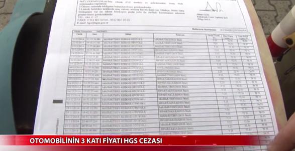 31 Bin Lira HGS cezası